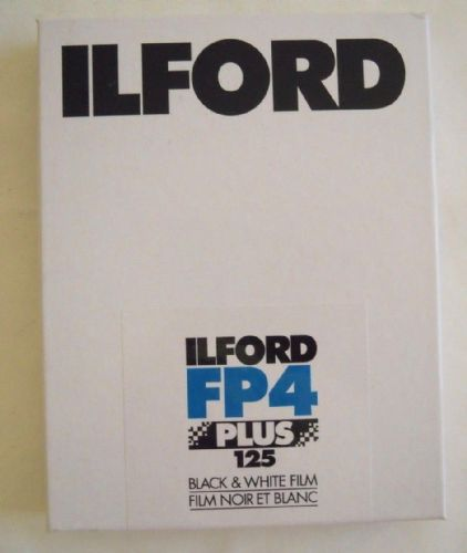 "ILFORD FP4 5X4"" B&W LARGE FORMAT FILM 25 SHEETS DATED JULY 2019"